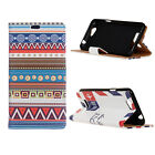 Smart Case Leather magnet Cover Pattern Wallet Pouch for Vodafone Smart Phone 05