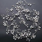 0.5/1.0 meter Crystal Faux Pearl Hair Vine Long Bridal Headpiece Brass Wire Wrap
