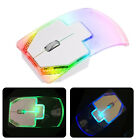 2.4G Wireless Optical Game Mouse Silent Glowing Transparent LED For PC Laptop