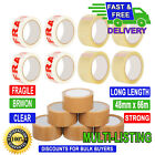 Buff Brown Clear Fragile Packaging Parcel Packing Tape  48mm X 66m Heavy Duty
