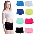 Внешний вид - Womens Casual Summer Denim Candy Color Jean Shorts Hot Pants US Size S-XL