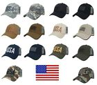 USA US American Flag United States America Ripstop Cotton Polo Baseball Hat Cap