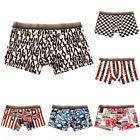 100% Cotton Men Soft Boxer Trunks Breathable Comfort Underwear Lingerie Shorts