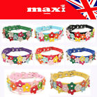 Pet Dog Cat Puppy Beautiful Flower Quality PU Leather Collar in 8 Colours UK