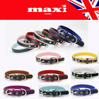 Puppy Cat Dog Pet Beautiful 8 Colours Quality Cortex Leather Collar UK SELLER