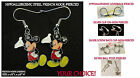 Large Mickey Earrings *OPTIONS* Hypoallergenic Pierced OR Clip On Earrings