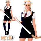 Sexy School Girl + Hat Ladies Fancy Dress Uniform Womens Adults Costume Outfit