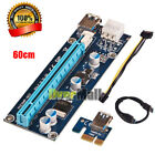 USB3.0 PCI-E Express 1x To16x Extender Riser Card Adapter Power Cable for Mining