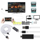 8Pin To HDMI HDTV AV Adapter Cable For iPhone X 8 8 Plus 7 6s 6 5 iPad Air Black