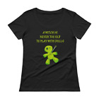 A Witch Is Never Too Old To Play With Dolls Scoop Neck T-Shirt by Cheeky Witch®