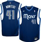 New Dallas Mavericks #41 Dirk Nowitzki Mens Sizes S-L-XL Adidas Navy Jersey $69