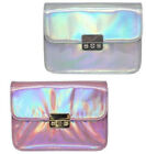 Ladies Ella pink and silver hologram handbags 72870 72869