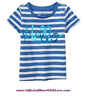 Baby Gap NWT Blue STRIPED HELLO DRESS TANK TOP TEE KNIT BOW SHIRT 12 18 24 5T