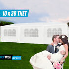 10'x30' Outdoor Canopy Party Wedding Tent White Gazebo Pavilion 5/8 Side Walls
