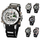 SHARK Men LCD Digital Chronograph Date Alarm Rubber Band Sport Quartz Watch Gift