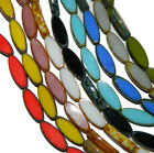 Czech Glass Picasso Table Cuts Oval Glass Beads16x6mm or 18x7mm U-Pick