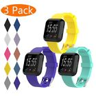 3-Pcs Replacement Classic Soft Wrist Strap Watchband For Fitbit Versa Watch Band