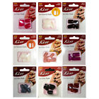 KISS* 12-20pc Set GLUE-ON NAILS Natural+Color CARDED Manicure *YOU CHOOSE* New