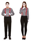 Couples Fancy Dress Mime Woman Man Artist Costume French Circus Ladies Mens
