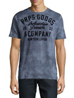 PRPS Goods & Co. Men's Blue Graphic Short Sleeve T-Shirt Size Medium