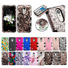 for LG Zone 4/ Fortune 2/ K8+2018 TUFF Hybrid Case Cover Accessory PryTool
