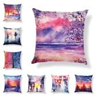 New Art Plant Multi-Coloured Pillow Case Cotton Linen Cushion Cover Home Decor