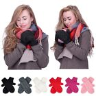 Women's Knit Mittens  Gloves Winter Cable Crochet Thermal Fleece Hand Warmer