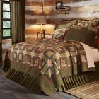 TEA CABIN QUILT COLLECTION Log Cabin Country Primitive Shams Pillows Skirt