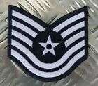 US Air Force USAF Technical Sergeant Military Iron-on Badge Patch - NEW