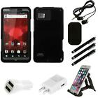 For Motorola Droid Bionic XT875 Rigid Plastic Hard Snap-On Case Phone Combo