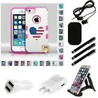 For Apple iPhone 5/5S/SE TUFF IMPACT HARD Armor Case Phone Cover Combo