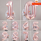 """32/40"""" Giant Foil Number Rose Gold Helium Large Balloons Birthday Party Wedding"""