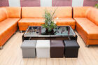 Storage Ottoman Coffee Leather Bench Living Room Faux Foot Stool New