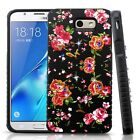 For Samsung Galaxy J7 PRIME HYBRID IMPACT Dazzling Diamond Layered Case Cover