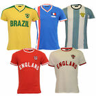 Mens World Cup T Shirt Brave Soul England Brazil France Argentina Football Print