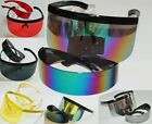 2-PACK COMBO Futuristic Robot Space Glasses  Oversized Visor Shield Sunglasses