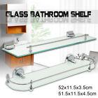 Внешний вид - Glass Bathroom Bath Storage Rectangle Ellipse Shelf Holder Rack Wall Mounted