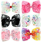 """8"""" Unicorn Large Hair Bow Clips Girl Bowknot Hairbows Baby Kids Hair Accessories"""