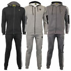 Mens DL Funk Tracksuit Sweatshirt Hooded Top Bottom Jogging Joggers Fleece Lined