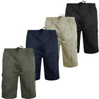 Mens Plain Combat Army Cargo Style Multi Pocket Shorts Casual Summer Pants Size