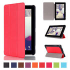 kindle usa - Tri-Fold Leather Tablet Stand Case Cover for Amazon Kindle Fire 7inch 2015 USA