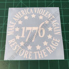 Make America Violent Again Restore The Rage 1776 Tactical 2A Decal Sticker