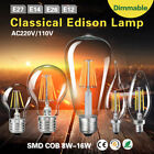 E27 E14 Edison Filament LED Bulb Dimmable Flame Light High Transmittance Lamp 1