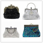 Women Evening Clutch Shoulder Bag Wedding Party Prom Handbag Beads Sequins Purse