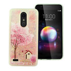 For LG K30 Liquid Glitter Quicksand Hard Case Phone Cover Accessory