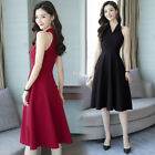 Spring Summer women's fashion Sexy off shoulder sleeveless A-line Dress New Y1