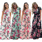 UK Womens Boho Holiday Long Dresses Ladies Summer Beach Floral Maxi Dress 4- 22