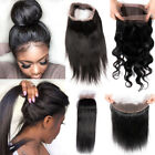 Pre Plucked 360 Lace Closure Frontal Ear TO Ear Brazilian Human Hair Long