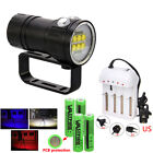LED Dive Flashlight Photography Lamp 100m Underwater Torch PCB 4X18650 W/Stand