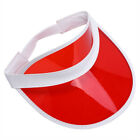 Tennis Beach Colored Plastic Clear Sun Bingo Vegas Dealer Golf Casino Visor Hat